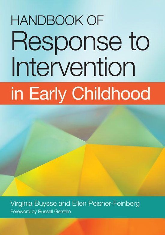 Omslag van Handbook of Response to Intervention in Early Childhood