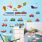 Muursticker Vliegtuig / Auto / Trein / Boot Voor Kinderen