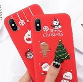 Lovebay Kerst Hoesje iPhone 6, 6S - Rood