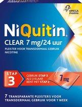 NiQuitin Clear Pleisters 7 mg - Stap 3 - Stoppen met roken - 7 stuks