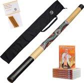 Starterspakket Australian Treasures Bamboe Didgeridoo (natural) + Bag + DvD + Wax