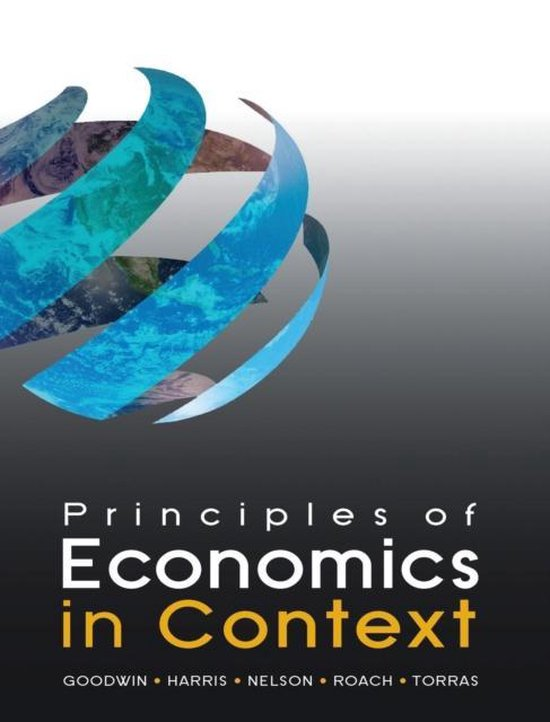 Boek cover Principles of Economics in Context van Neva Goodwin (Hardcover)