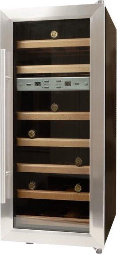 Wine Klima D21 - wijnklimaatkast - 21 flessen - dubbele zone