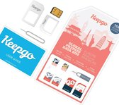 Keepgo 3-in-1 wereld simkaart inclusief 2GB (onbeperkt houdbaar)