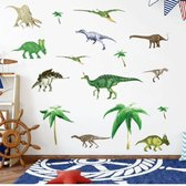 Muurstickers Dino's en Palmen | Vinyl Muurstickers kinderkamer