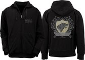 Game of Thrones - Stark Coat of Arms Zipped Mannen Hoodie/Vest - Zwart - XL