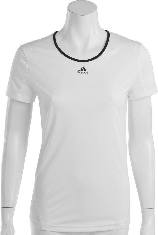 adidas Response Classical T - Sportshirt - Dames - Maat L - Wit;Zwart