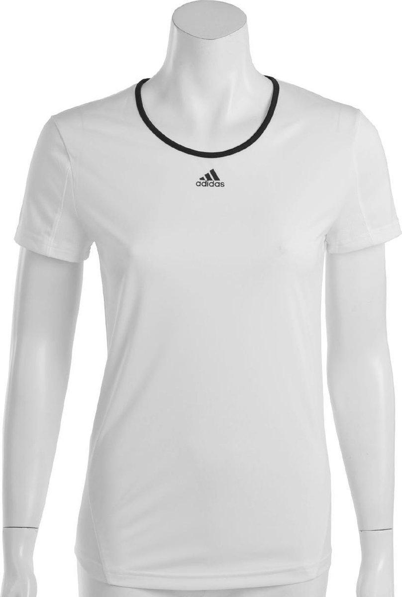 adidas Response Classical T Sportshirt Dames Maat L Wit;Zwart
