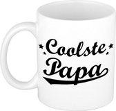 Coolste papa tekst cadeau mok / beker - Vaderdag - 300 ml
