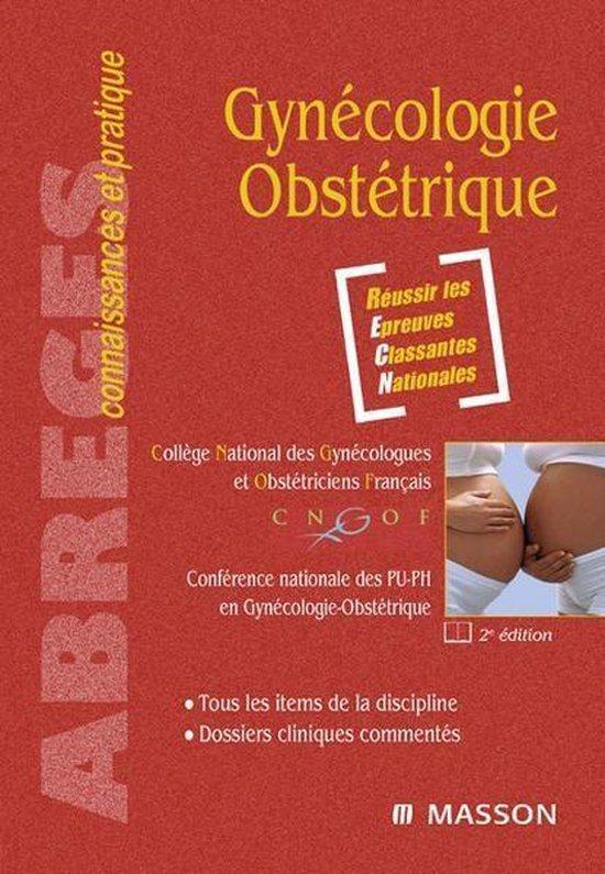 Boek cover Gynécologie-Obstétrique van College National des Gynecologue (Onbekend)