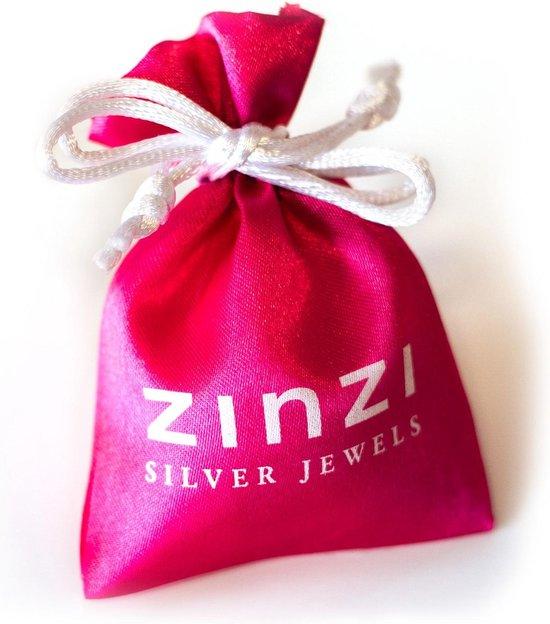 Zinzi - Zilveren Ring - Zirkonia - Bruin/Wit - Maat 52 ZIR927BR52
