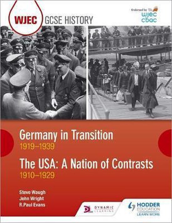 Boek cover WJEC GCSE History Germany in Transition, 1919-1939 and the USA van R. Paul Evans (Paperback)