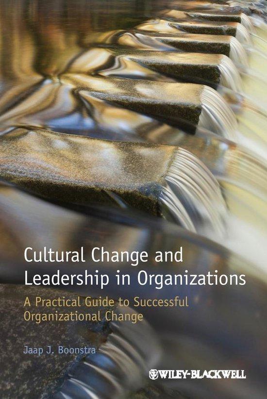 Afbeelding van Cultural Change and Leadership in Organizations