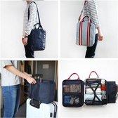 Reiskoffer, reistas , travel tas te bevestigen aan je koffer met  schouderband licht blauw