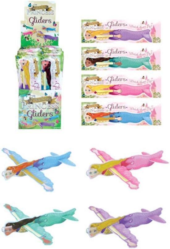 48 Stuks - Uitdeelcadeautjes - Fighter Gliders - Model Princess - Display - Foam Vliegtuigen - Traktatie voor kinderen - Meisjes