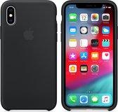 Apple Siliconen Back Cover voor iPhone XS - Zwart
