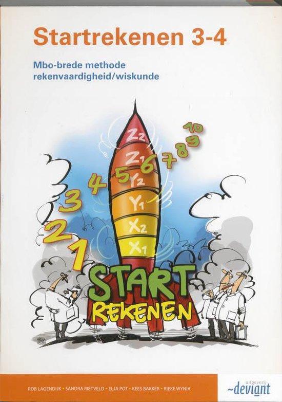 Startrekenen 3-4 mbo - Rekenvaardigheid/Wiskunde - Rob Lagendijk |