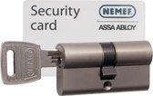 Nemef veiligheidscilinder 132/9 - Gelijksluitend - Met boorbelemmering - SKG*** - Met gevarenfunctie - Lengte 60mm - Met 6 sleutels
