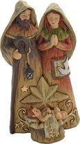 Kersttafereel - Kerstbeeld - Jozef , Maria en kindje Jezus - H16cm