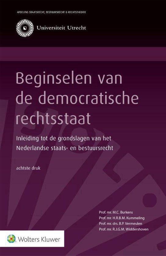 Afbeelding van Beginselen van de democratische rechtsstaat