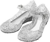 Frozen Prinsessen schoenen zilver maat 29 - Prinses Elsa/Anna -  (vallen 2 maten kleiner uit) - verkleedkleding