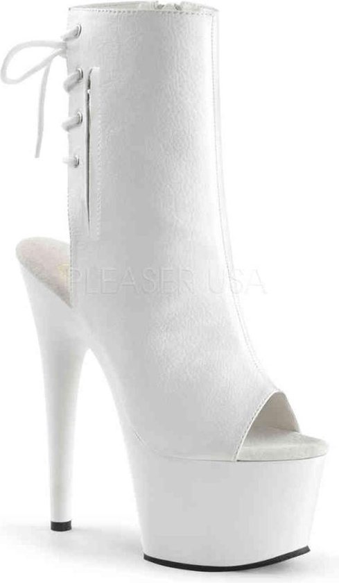 Pleaser Enkellaars -41 Shoes- ADORE-1018 US 11 Wit