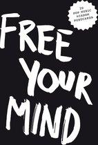 Pop music wisdom: free your mind postcard block