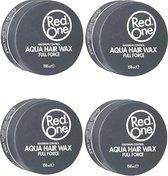 Red One Black Aqua Hair Wax Full Force - 4x 150 ml