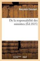 de la Responsabilit Des Ministres