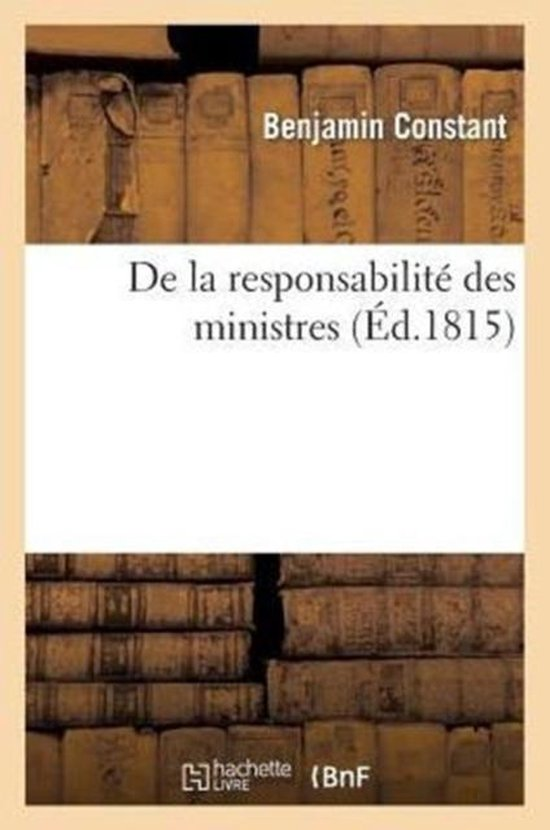 De la responsabilite des ministres