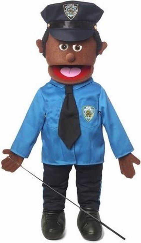 Handpop Politieagent donker Sillypuppets 25''