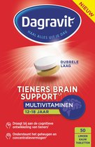 Dagravit Tieners Brain Support - Multivitamine - Limoen - 50 tabletten