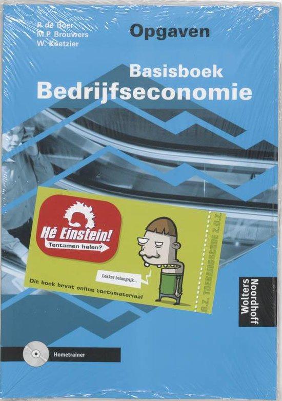 Boek cover Basisboek Bedrijfseconomie / Opgaven + cd-rom / druk 7 van P. de Boer (Paperback)