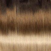 Bighair Clip-in Extension Ombre Donkerbruin/Licht Goudblond T4/27# 8 banen - 50cm - 100gram
