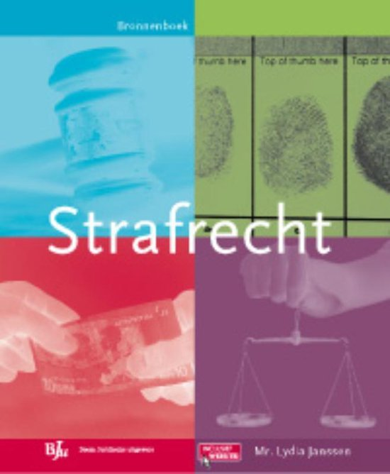 Boek cover Strafrecht van Lydia Janssen