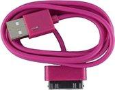 2 stuks - iPhone 4 USB oplaad kabel paars | 3 METER kabeltje voor iPhone 4/4G/4S/3G/3GS/iPod 1/2/3
