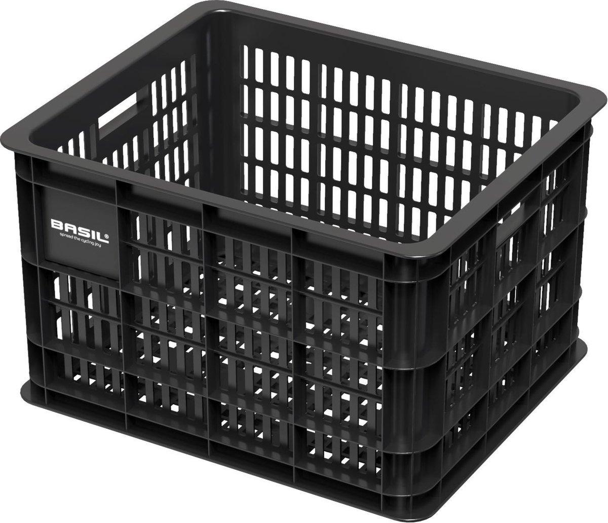 Basil Crate Fietskrat M - Medium - Zwart - 33 Liter