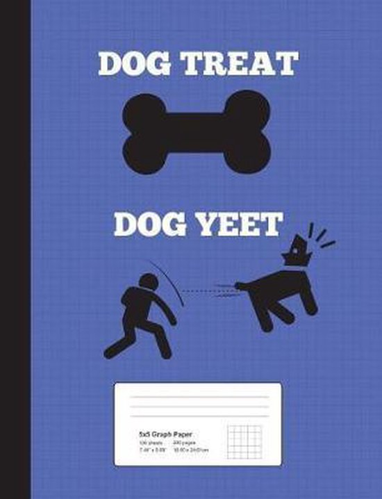 Dog Treat, Dog Yeet! Graph Ruled Composition Notebook