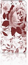 Smartphone Hoesje Nokia 6 Wallet Book Case Watercolor Flowers