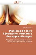 Manieres de Faire L'Evaluation Formative Des Apprentissages