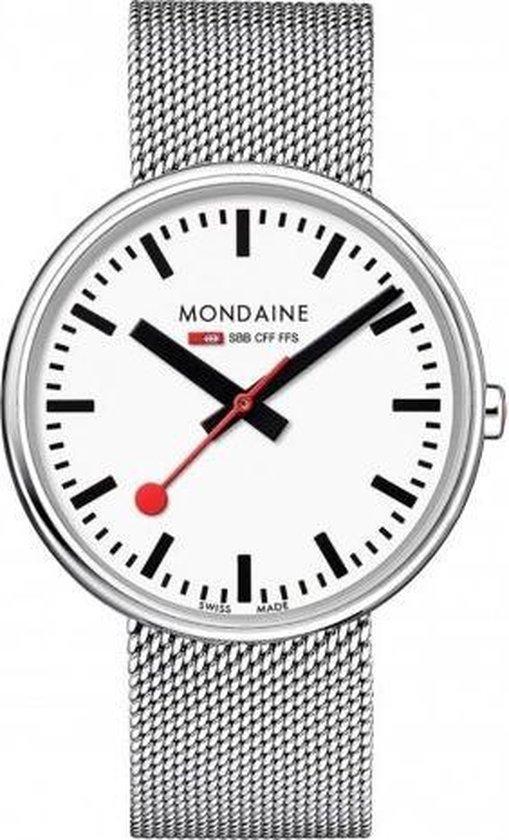 Mondaine Giant MSX.4211B.SM Horloge – Edelstaal – Zilverkleurig – Ø42 mm