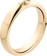 Melano twisted tracy ring - goudkleurig - dames - maat 64