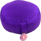 Meditatiekussen Violet ruwe zijde