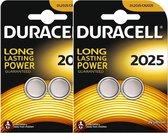 Duracell CR2025 Lithium Batterijen 3V - 2 x 2 blister