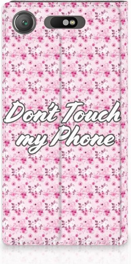 Sony Xperia XZ1 Standcase Hoesje Flowers Pink DTMP