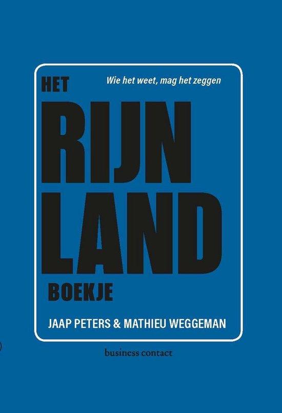 Boek cover Het Rijnland-boekje van Jaap Peters (Paperback)