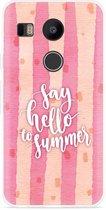 LG Nexus 5X Hoesje Say Hello to Summer