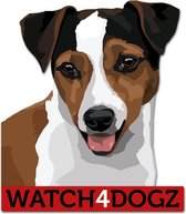 Jack Russel Terrier sticker (set van 2 stickers)