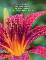 Flower Composition Notebook