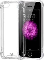iPhone 5 / 5s / SE Hoesje Transparant - Shock Proof Siliconen Case